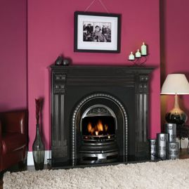 granite corbel fireplace