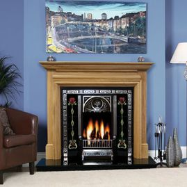 oak genova fireplace