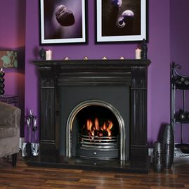 irish corbel black fireplace