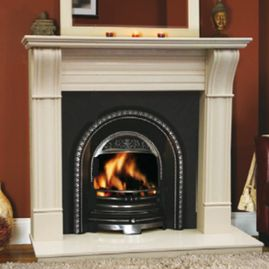 irish corbel fireplace