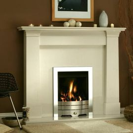 white oslo fireplace
